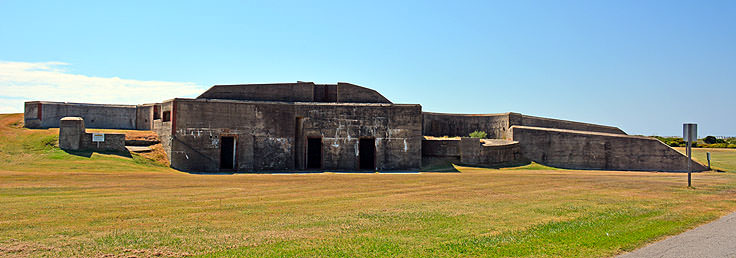 The remains of Fort Caswell