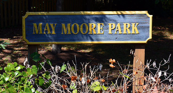 May Moore Park sign