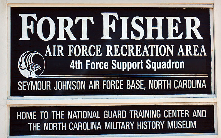 Sign at Fort Fisher Air Force Rec Area