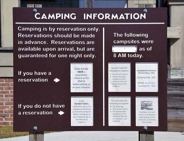 Camping information at Carolina Beach State Park