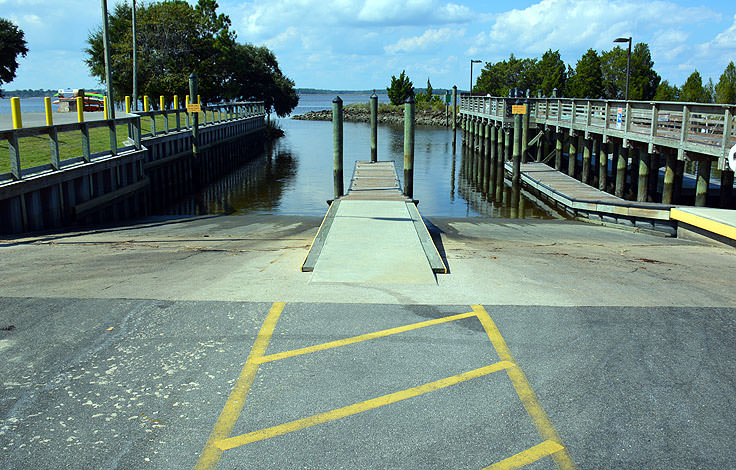 The boat ramps at Carolina Beach State Park