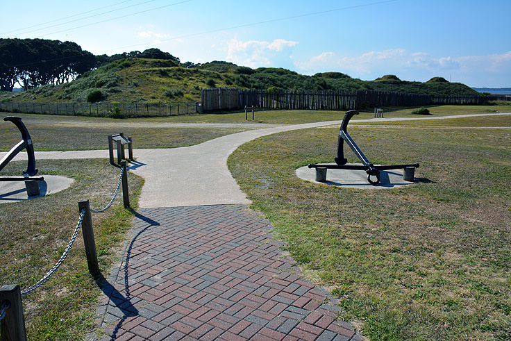 Fort Fisher earthen walls