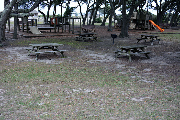 Picnic And Playground Facilities At Myrtle Beach State Park