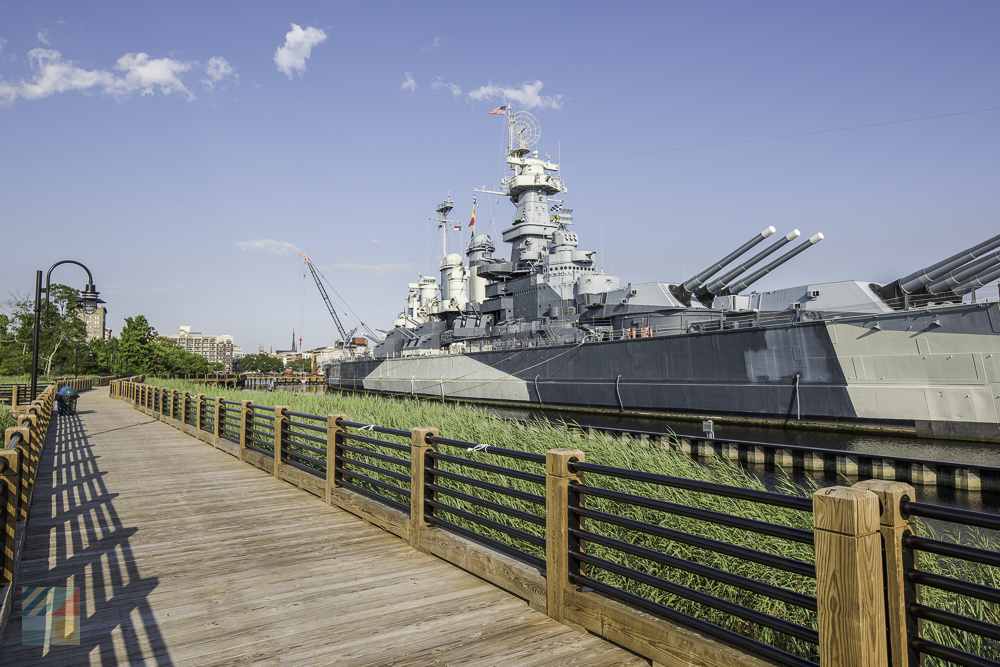 USS North Carolina on the Cape Fear River