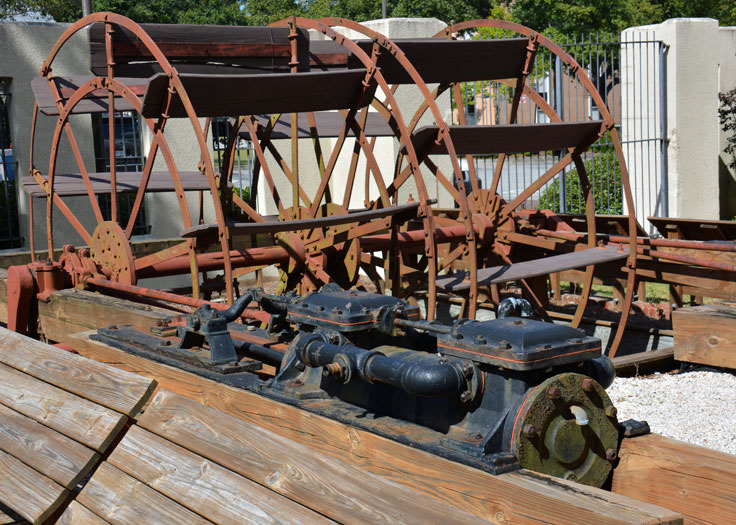 A paddle wheel at the Cape Fear Museum in Wilmington, NC