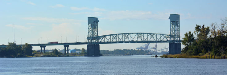 A view of the Cape Fear River