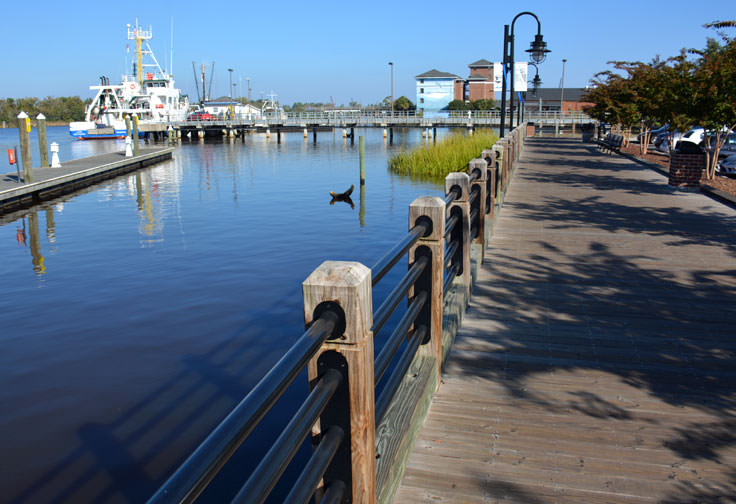 The Cape Fear River from Wilmington, NC