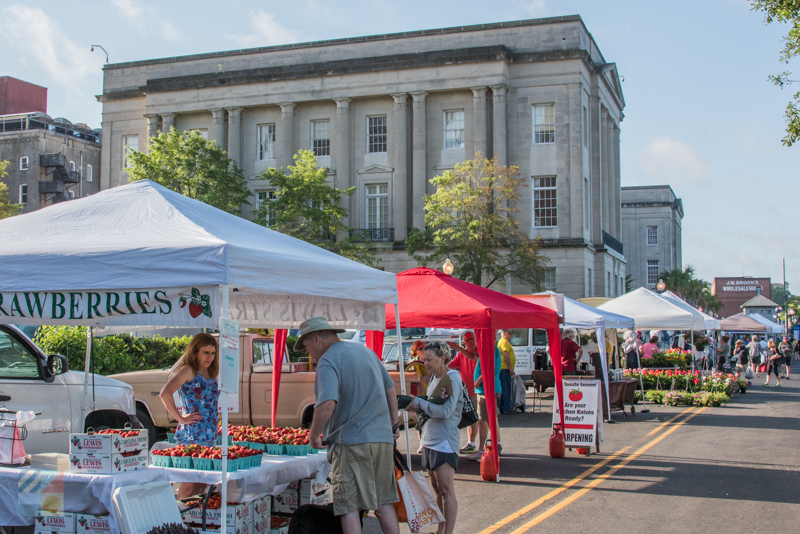 Farmers Market in downtown Wilmington, NC