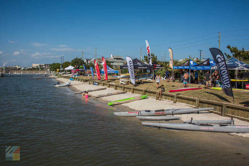 A paddling event in Wrightsville Beach