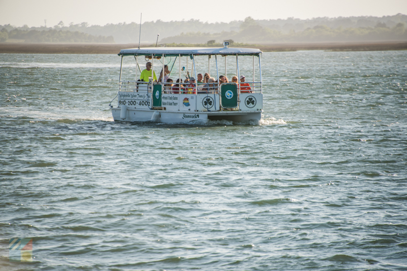 A boat tour from Wrightsville Beach