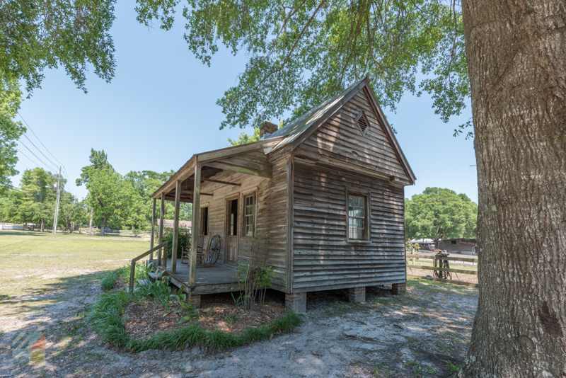 An outbuilding at the Poplar Grove Plantation