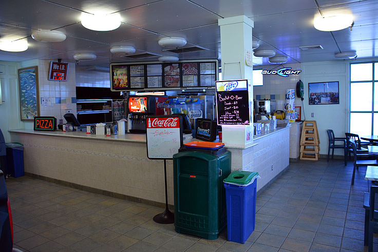 Snack bar at Johnny Mercer's Pier in Wrightsville Beach, NC